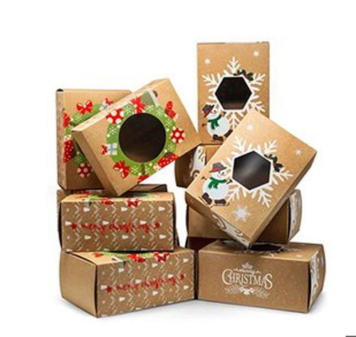 Kraft Paper Biscuit Box