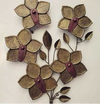 Metal Flower Leaf Wall Decorative