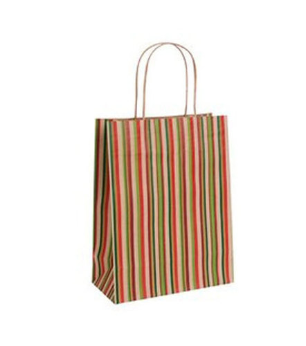 Striped Paper Carry Bag