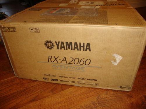 Black Yamaha Rx-A2060 9.2 Channel Network Av Receiver And Yamaha Pro-300 Headphones