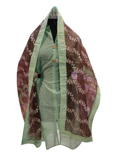 Classy Look Ladies Unstitched Chanderi Suit