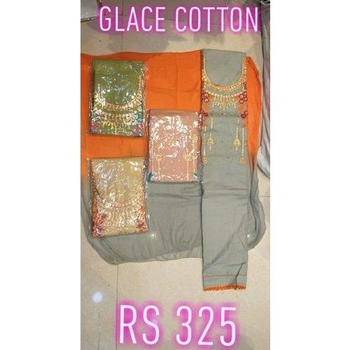 Elegant Look Glace Cotton Suits