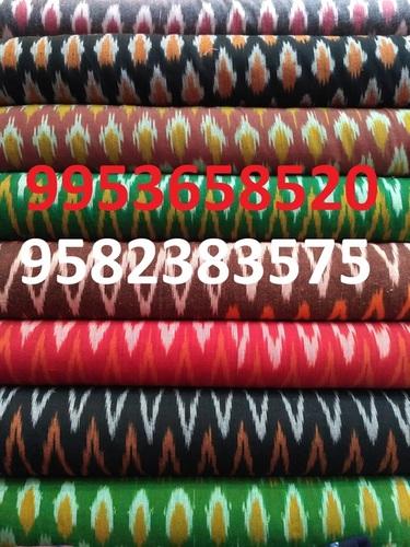 Ikkat Handloom Cotton Fabric