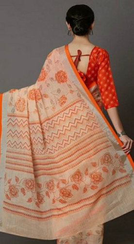 Ladies Cotton Slub Saree