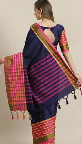 Ladies Printed Border Saree