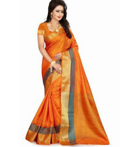 Ladies Trendy Orange Saree