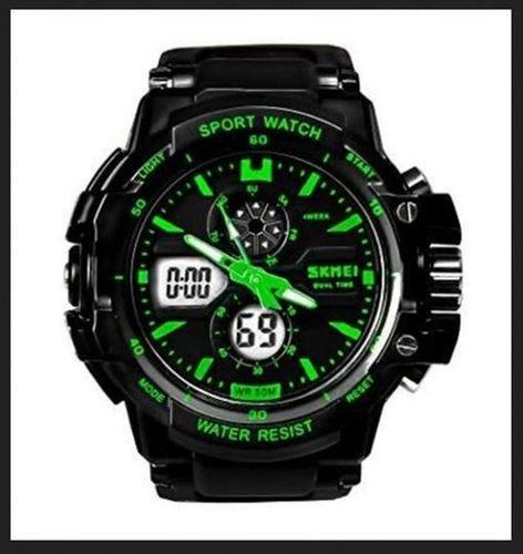 Mens Black Strap Watch