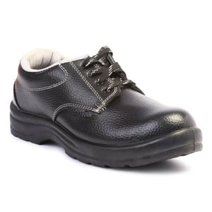 Black Synthetic Leather Steel Craft PVC Safety Shoes
