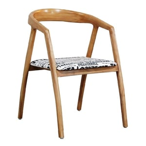 Kristy Dining Chair in White Ash Wood