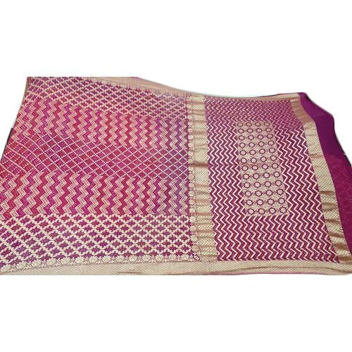Ladies Jamnagar Bandhej Printed Saree