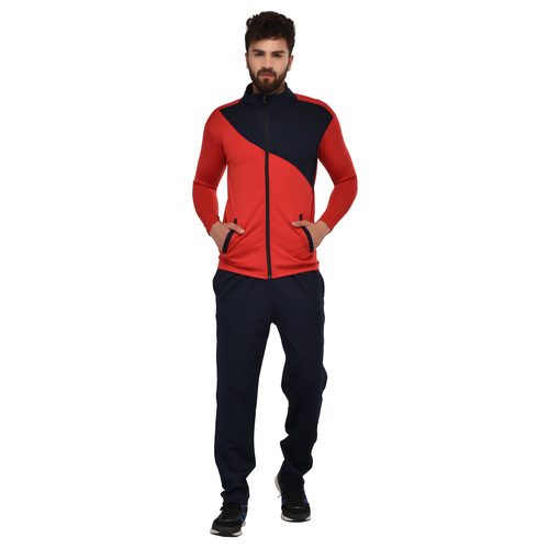Multi Color Men Plain Pattern Tracksuit