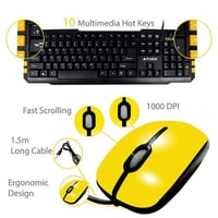 ProDot TLC-107 273 Wired USB Multimedia Keyboard and Mouse Combo