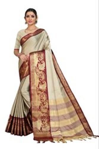 Skin Friendliness Ladies Printed Saree