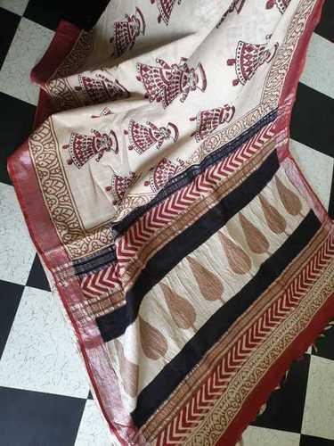 Beautiful Chanderi Silk Saree With Blouse