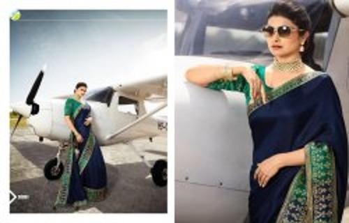 Border Printed Ladies Makhna Silk Saree
