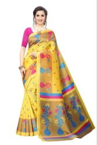 Color Fastness Ladies Silk Saree