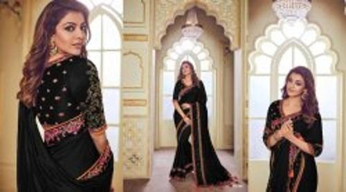 Gorgeous Look Embroidery Work Ladies Sarees