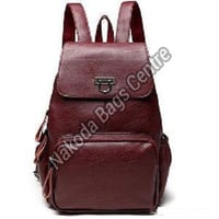 Mehroon Leather College Bag