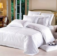 Plain And Stripped Satin Bed Sheets
