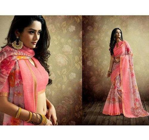 Multicolor Ladies Designer Printed Saree