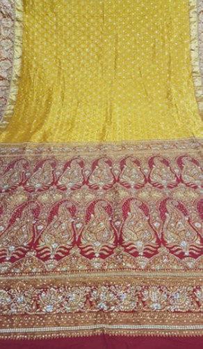 Red Ladies Designer Stone Work Saree