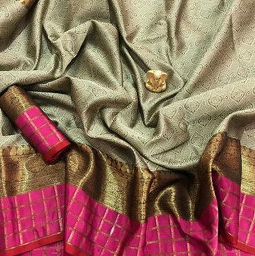 Multicolor Ladies Wedding Silk Saree