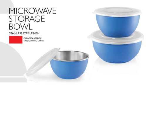 Microwave Safe Bowl With Steel Finish