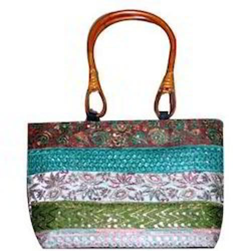 Wooden Handle Ladies Bags