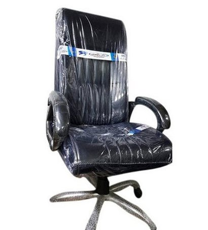 Eco-Friendly Black Leather Rotatable Executive Chair