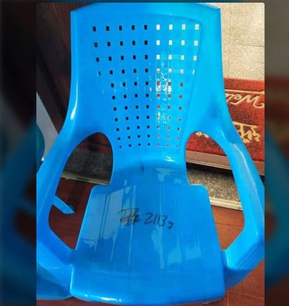 Grey Light Weight High Back Plastic Chair