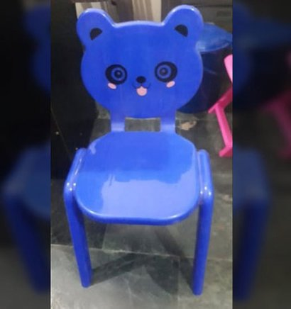 Blue Light Weight Plastic Baby Chair