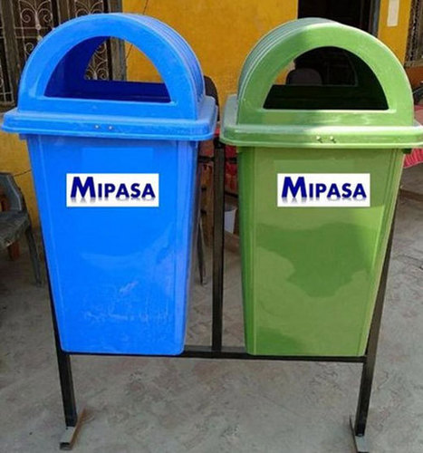 Blue Light Weight Plastic Dome Dustbins