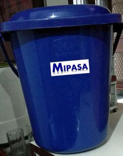 Blue Light Weight Round Plastic Dustbin
