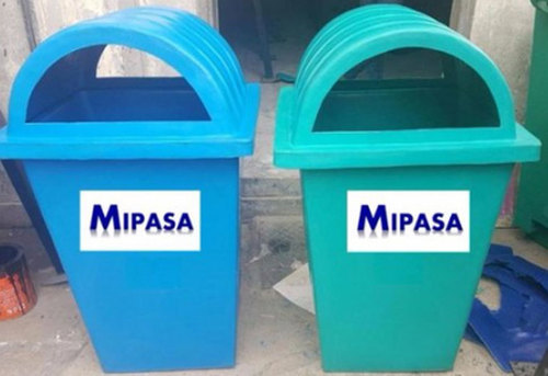 Plastic Blue Dome Dustbins
