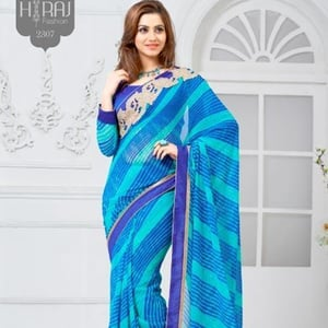 6m Casual Wear Cotton Printed Saree With Blouse