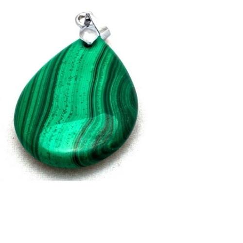 Pear Natural Malachite Pendant