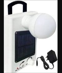 Solar Panel Powered Light Bulb