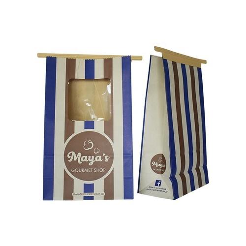 Biodegradable Takeaway Fast Food Brown Paper Bag