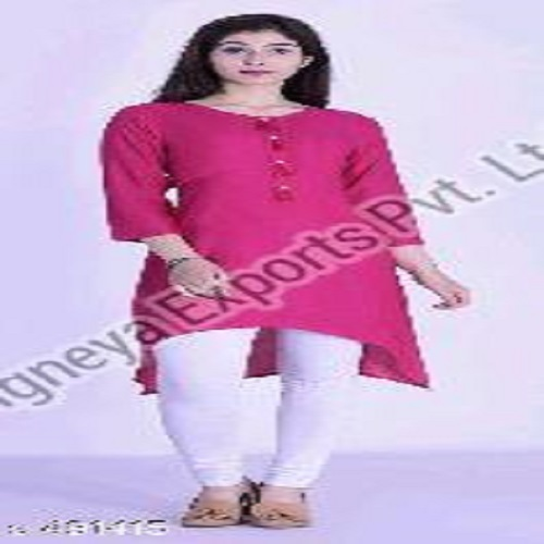 Any Ladies Cotton Short Length Kurti