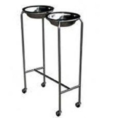 Stainless Steel Double Bowl Stand Usage: Clinical