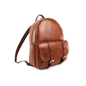 Fancy Leather College Backpack