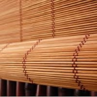 Flora Aesthetic Bamboo Roll-Up Blinds