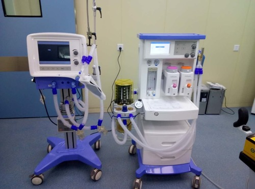 Hospital ICU Mobile Ambulance Breathing Machine, Medical Ventilator Machine