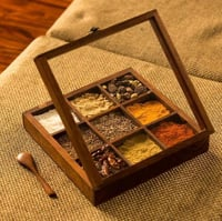 Sheesham Wooden Spice Box