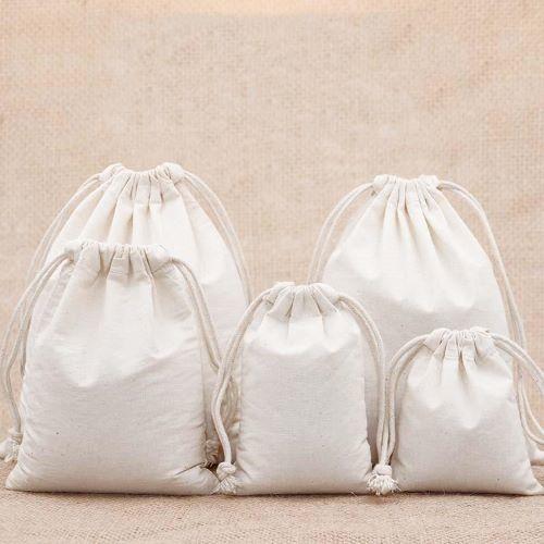 Pure Cotton Drawstring Bags