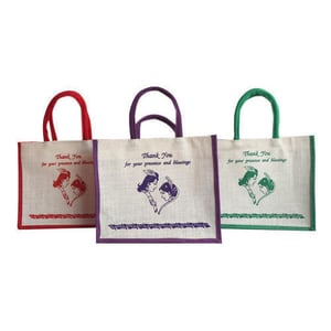 Easy To Carry Jute Gift Bag