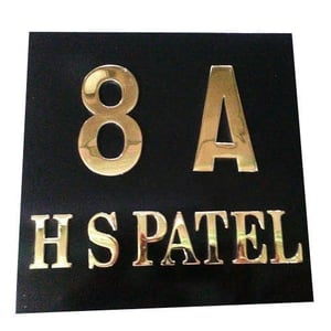 Brass Name Plate Letters