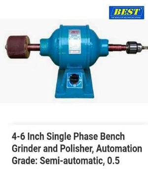 4 to 6 Inch Single Phase Bench Grinder and Polisher