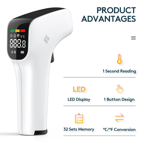 Digital Infrared Forehead Fever Detect Indicator Thermometer