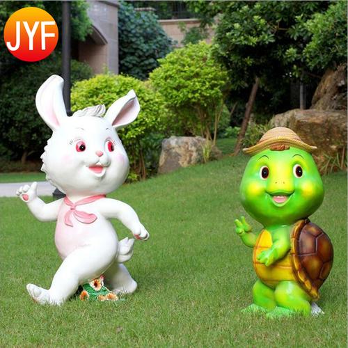 Multi Color Available Fiberglass Abstract Cartoon Garden Sculptures